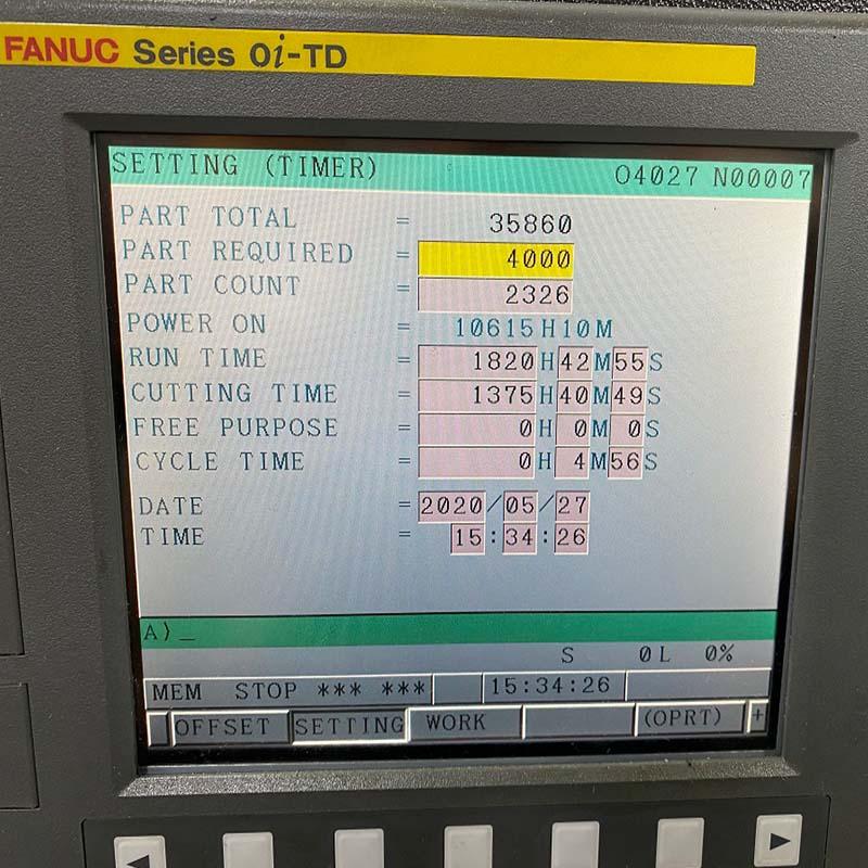 Used SMEC PL1600m Fanuc 0iTD control